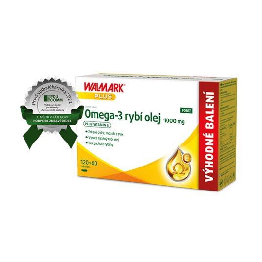 Omega-3 rybí olej FORTE 1000 mg 120 + 60 tobolek
